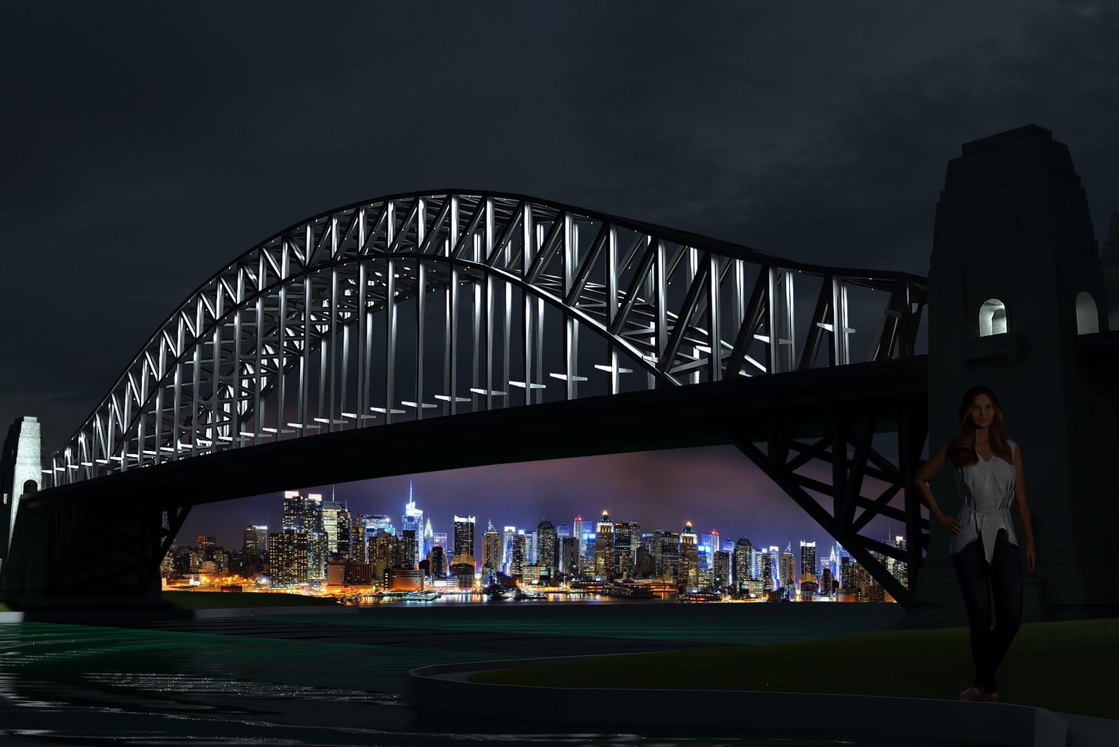 Архитектурная подсветка моста светильниками наружного освещения CERTUS Lighting