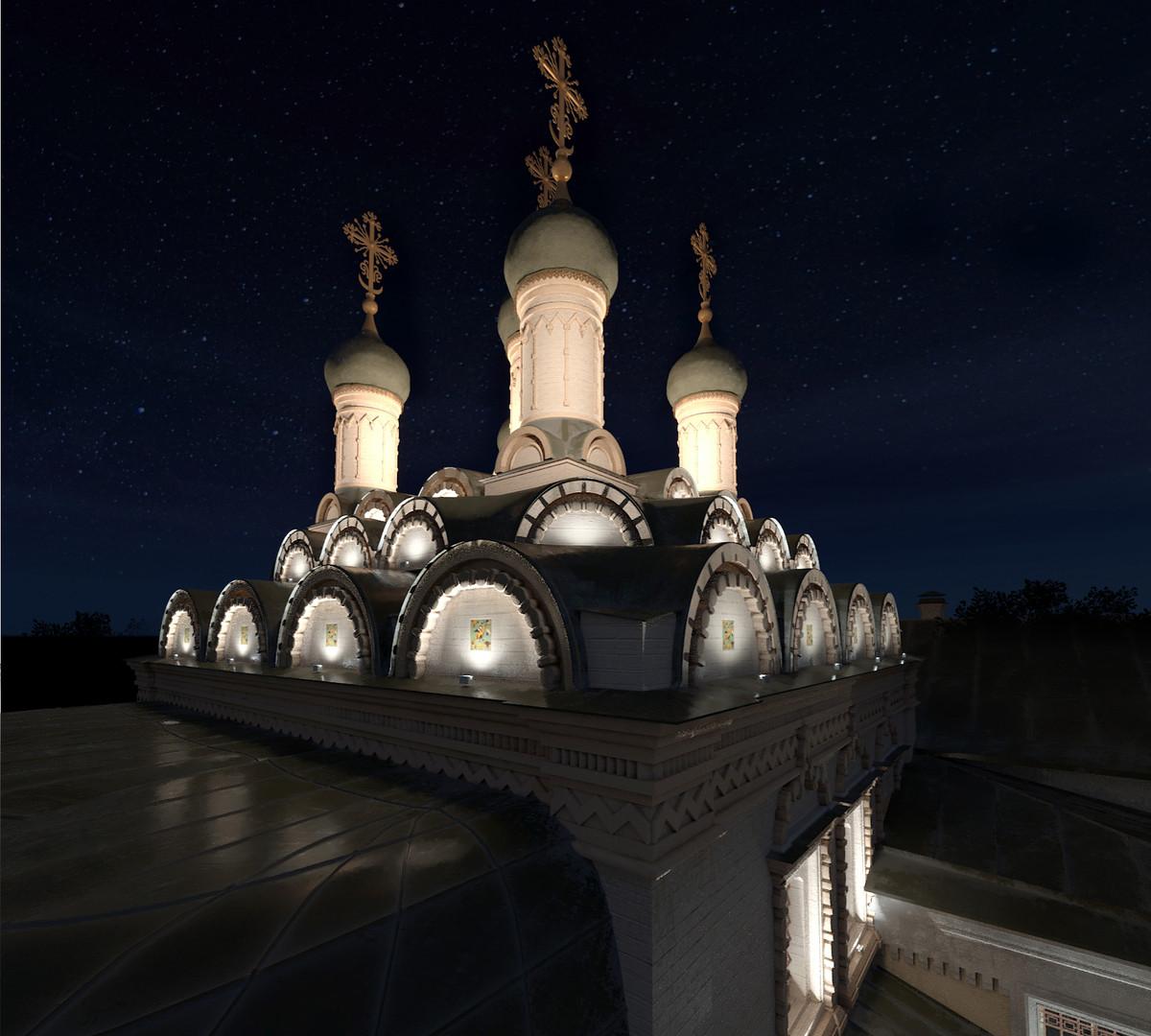 Подсветка храма наружными светильниками CERTUS Lighting