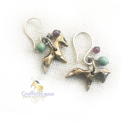 Pony on the Left, Pony on the Right Earrings by GrafficaEquus