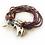 silver horse charm on beaded bracelet