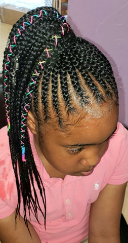 Braids with extensions