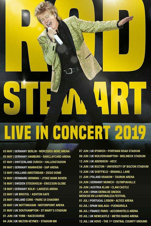 Rod Stewart Europe Tour 2019