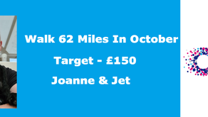 62 MILES IN OCTOBER - RAISING MONEY FOR CANCER