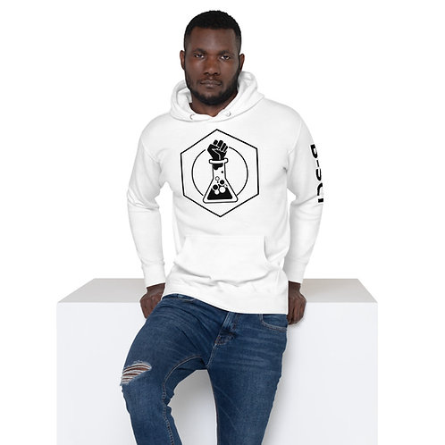 White or Gray Unisex B-SCI Hoodie w/ text