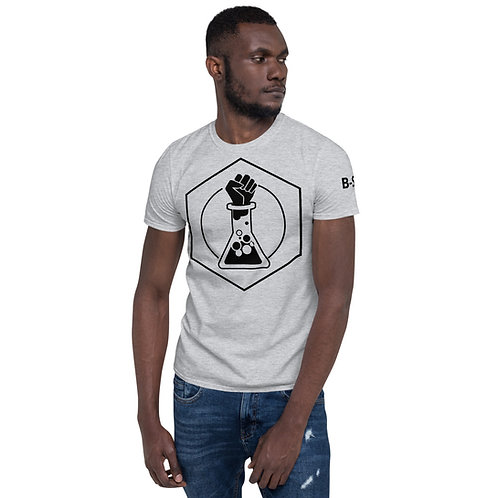 White or Gray B-SCI T-Shirt w/ text on sleeve