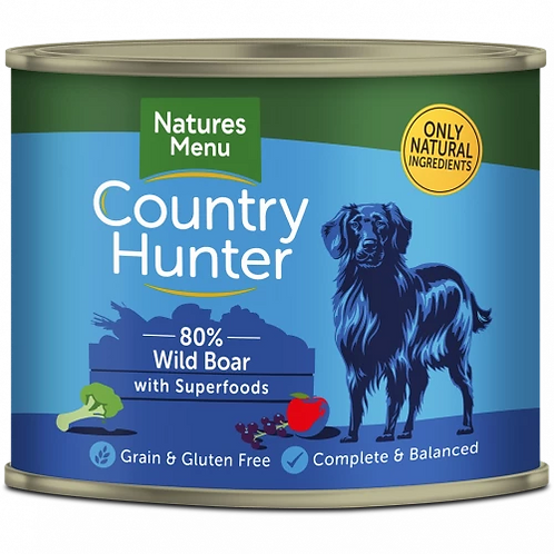 COUNTRY HUNTER CANS  WILD BOAR WITH SUPERFOODS