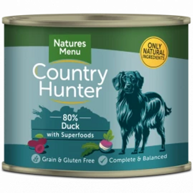 COUNTRY HUNTER CANS  DUCK WITH SUPERFOODS