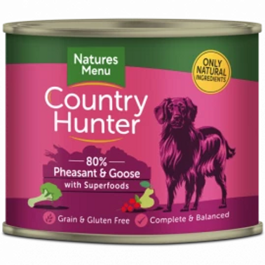 COUNTRY HUNTER CANS  PHEASANT AND GOOSE WITH SUPERFOODS