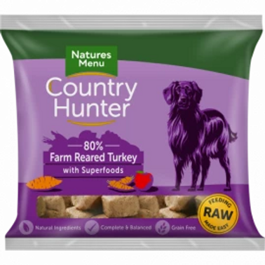 COUNTRY HUNTER RAW NUGGETS  FARM REARED TURKEY