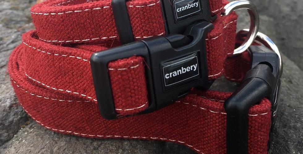 Cranbery - Hemp Collar Large (40cm-67cm) Mountain Red