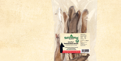 Canis Plus® Dried Rabbit Ears with Fur - 100g