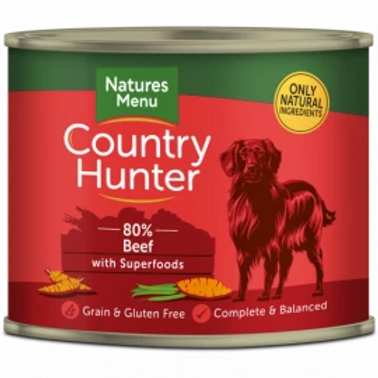 COUNTRY HUNTER CANS  BEEF WITH SUPERFOODS