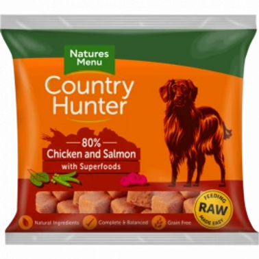 COUNTRY HUNTER RAW NUGGETS  CHICKEN AND SALMON