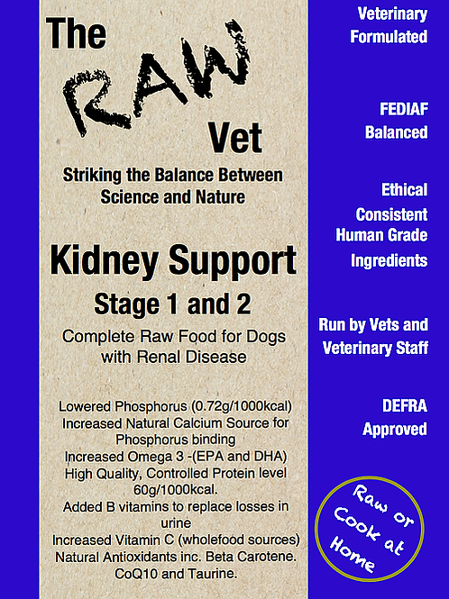 The Raw Vet - Kidney Support for IRIS Stage 1-2