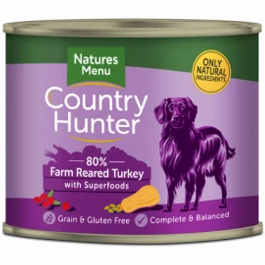 COUNTRY HUNTER CANS  FARM REARED TURKEY WITH SUPERFOODS