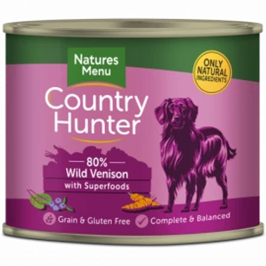 COUNTRY HUNTER CANS  WILD VENISON WITH SUPERFOODS