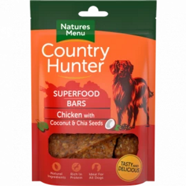 Country Hunter Superfood bar (Chicken with coconut & chia seed)