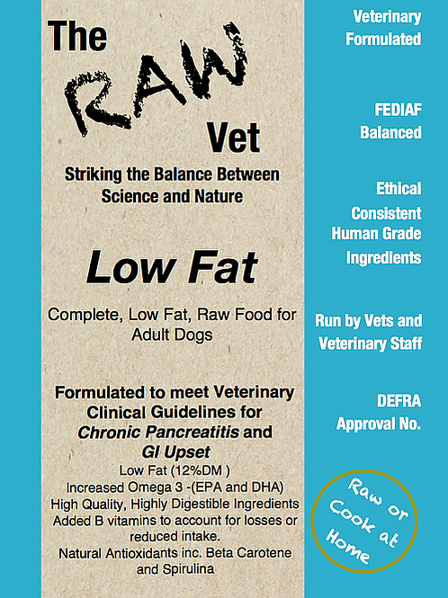 The Raw Vet - Low Fat Pancreas and Gut Support