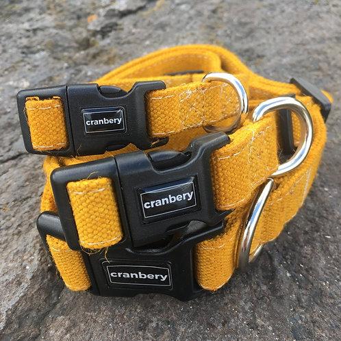 Cranbery - Hemp Collar Medium (32cm-50cm) Shingo Yellow