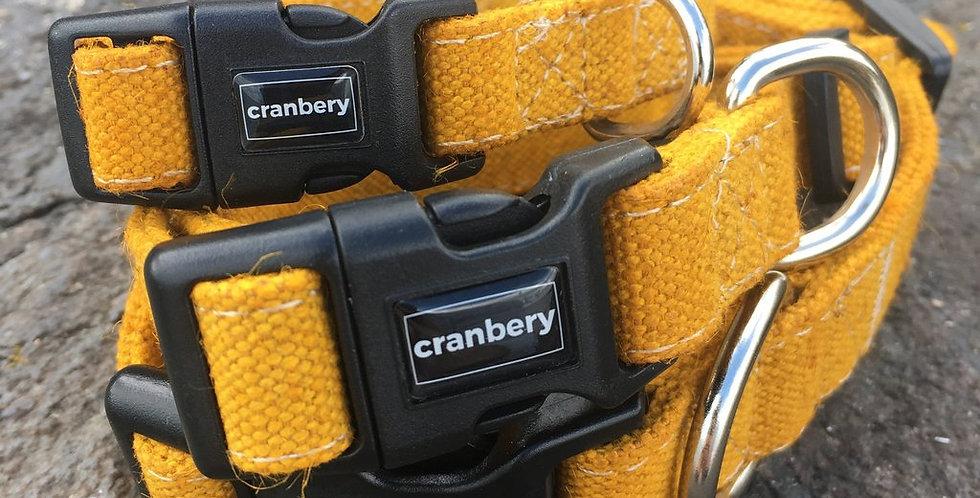 Cranbery - Hemp Collar Small (26cm-42cm) Shingo Yellow