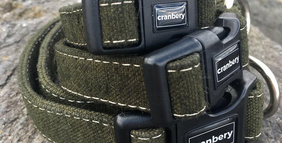 Cranbery - Hemp Collar Small (26cm-42cm) Tullymore Green