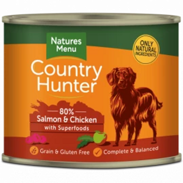 COUNTRY HUNTER CANS  SALMON AND CHICKEN WITH SUPERFOODS