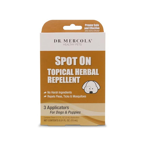 Dr Mercola - Spot On Topical Herbal Repellent For Dogs & Puppies