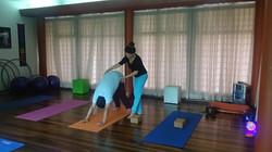 Yoga para la buena salud.