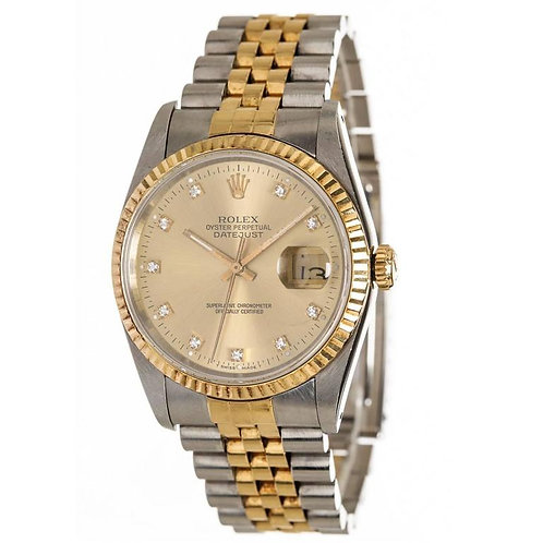Rolex Yellow Gold Stainless Steel Oyster Perpetual Wristwatch