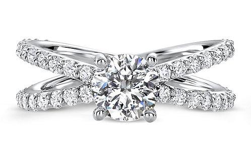 OPEN BAND DIAMOND ENGAGEMENT RING