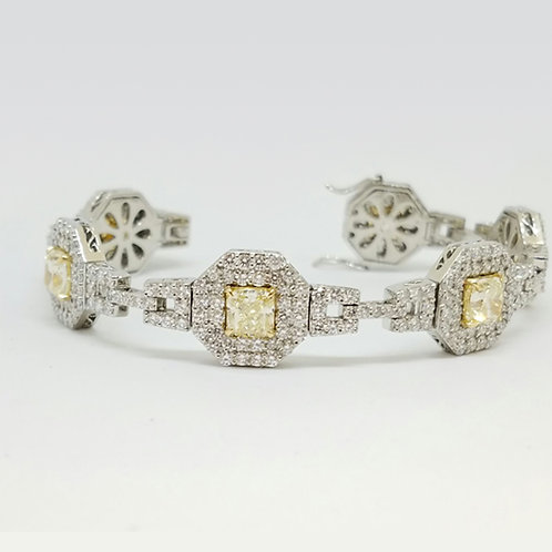 YELLOW PHEONIX WOMEN'S PLATINUM BRACELET