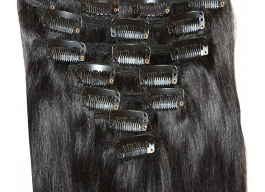 120 GRAMS CLIP IN REMY VIRGIN INDIAN HAIR EXTENSIONS
