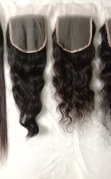 """REMY VIRGIN INDIAN HAIR LACE CLOSURES(5""""*5""""))"""