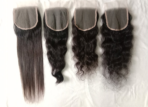 """REMY VIRGIN INDIAN HAIR LACE CLOSURES(4""""*4"""")"""
