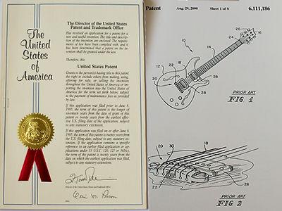 PRS ギター ピエゾ特許