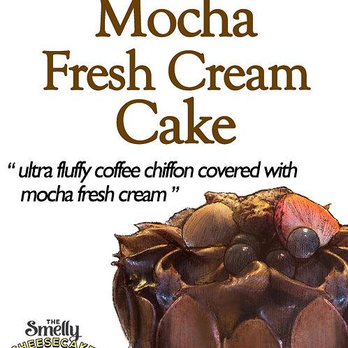 Mocha Fresh Cream Cake