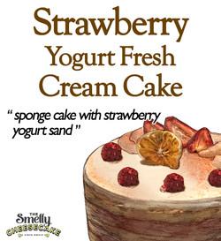 Strawberry Yogurt Cream Cake
