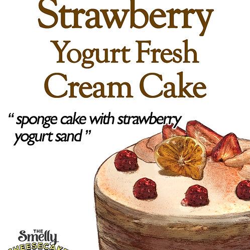 Strawberry Yogurt Fresh Cream Cake