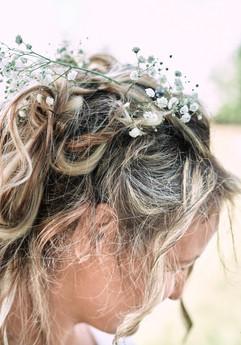 La coiffure de la mariée