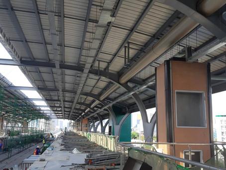 โครงการสถานีรถไฟฟ้า N12 แยกนวมินทร์ - พหลโยธิน งานติดตั้งอะลูมิเนียมที่สถานีรถไฟฟ้า โดยทีมช่างวินดอส