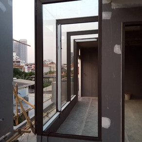 ผลงานติดตั้งประตูอะลูมิเนียม และหน้าต่างอะลูมิเนียม เปลี่ยนหน้าต่างธรรมดาให้เป็นรูปแบบ Star View
