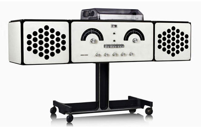 "The iconic ""stereo radiophonograph"" Brionvega RR126 was designed by architects  Pier Giacomo and Achille Castiglioni in 1965."
