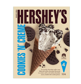 Hershey's Cookies 'N' Creme Cones 4Pk