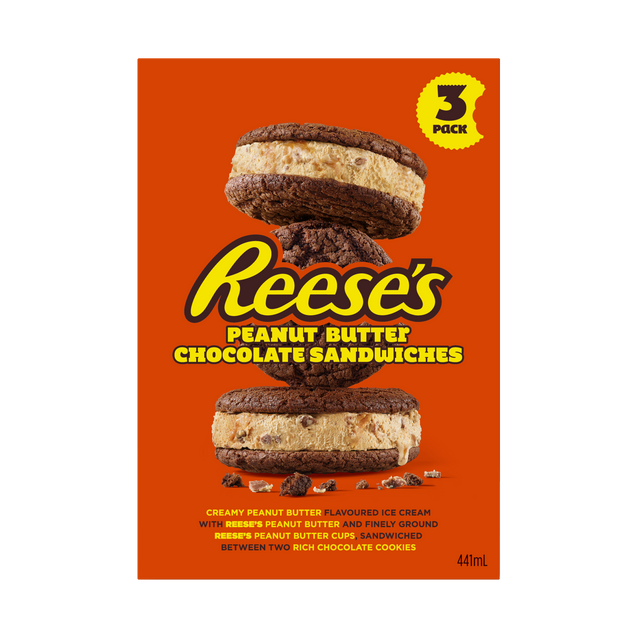 Reese's Peanut Butter Chocolate Sandwiches 3Pk