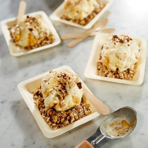 Vanilla Ice Cream with Honeycomb Sand