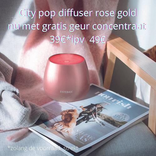 city pop diffuser rose gold incl concentraat