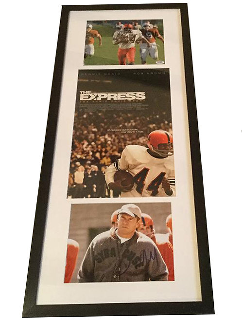 Framed The Express Movie Poster with autographs