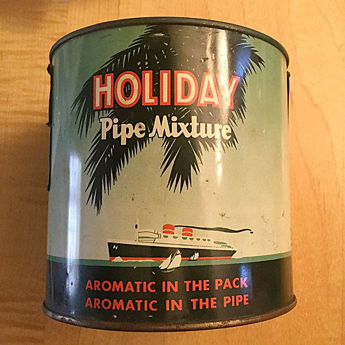Vintage Holiday Pipe Tobacco Can