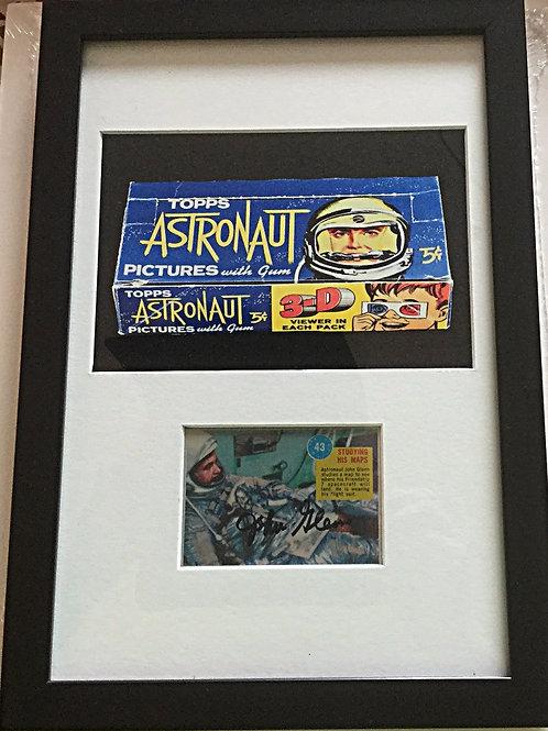 1963 Signed John Glenn Topps Astronaut card