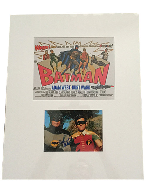 Adam West Signed Photo with Print